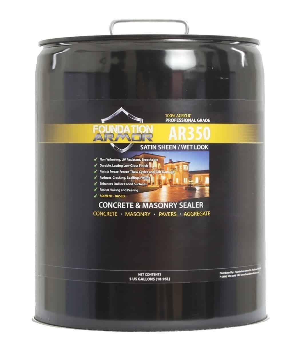 Armor AR350 Solvent-Based Acrylic Concrete and Paver Sealer