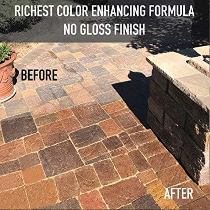 Black Diamond NG+ Dominator Paver Sealer Before and After
