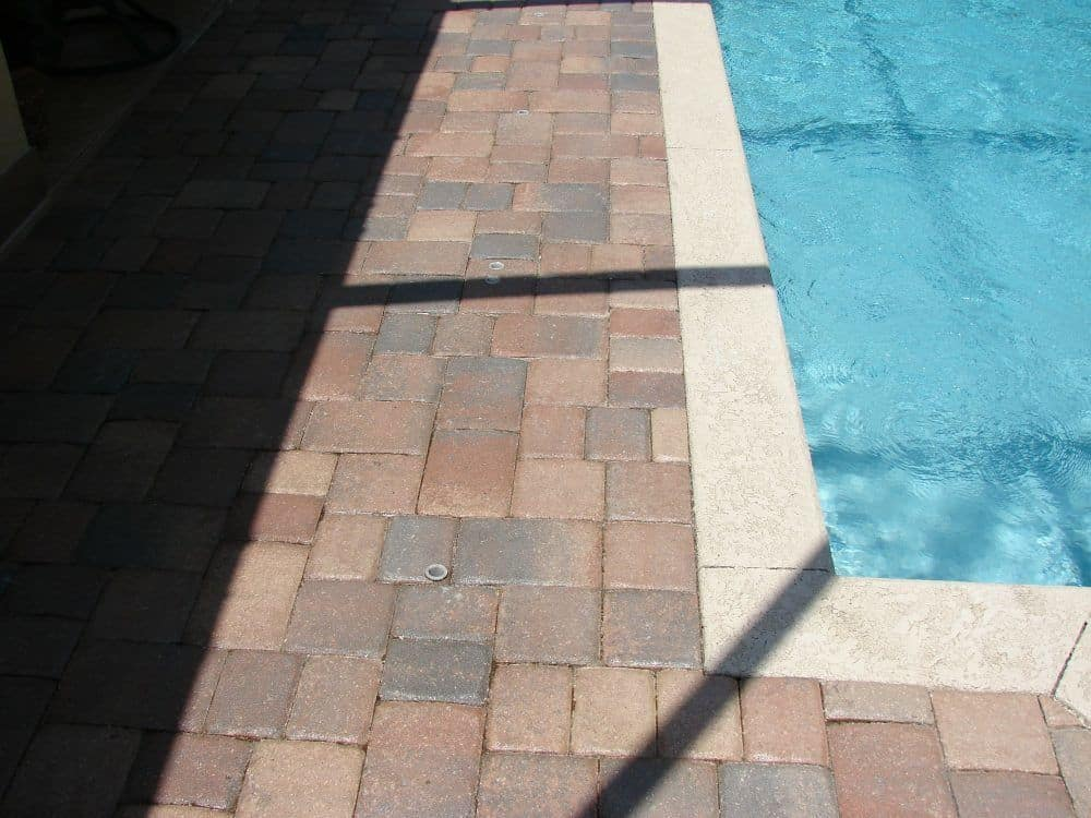 Brick Pavers Around a Pool