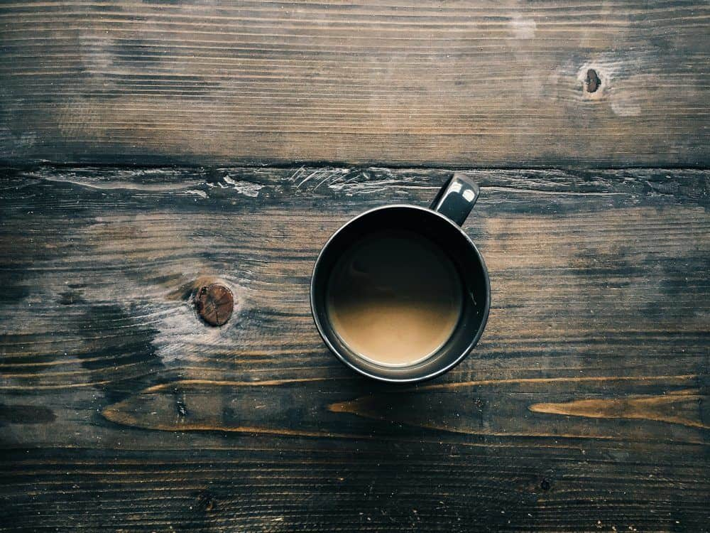 Coffee Cup on Wood Counter