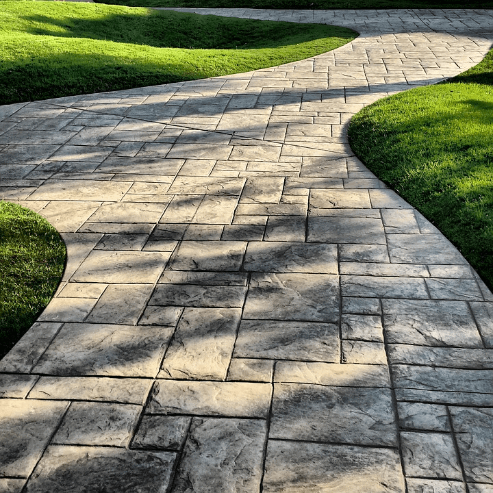 Concrete garden path