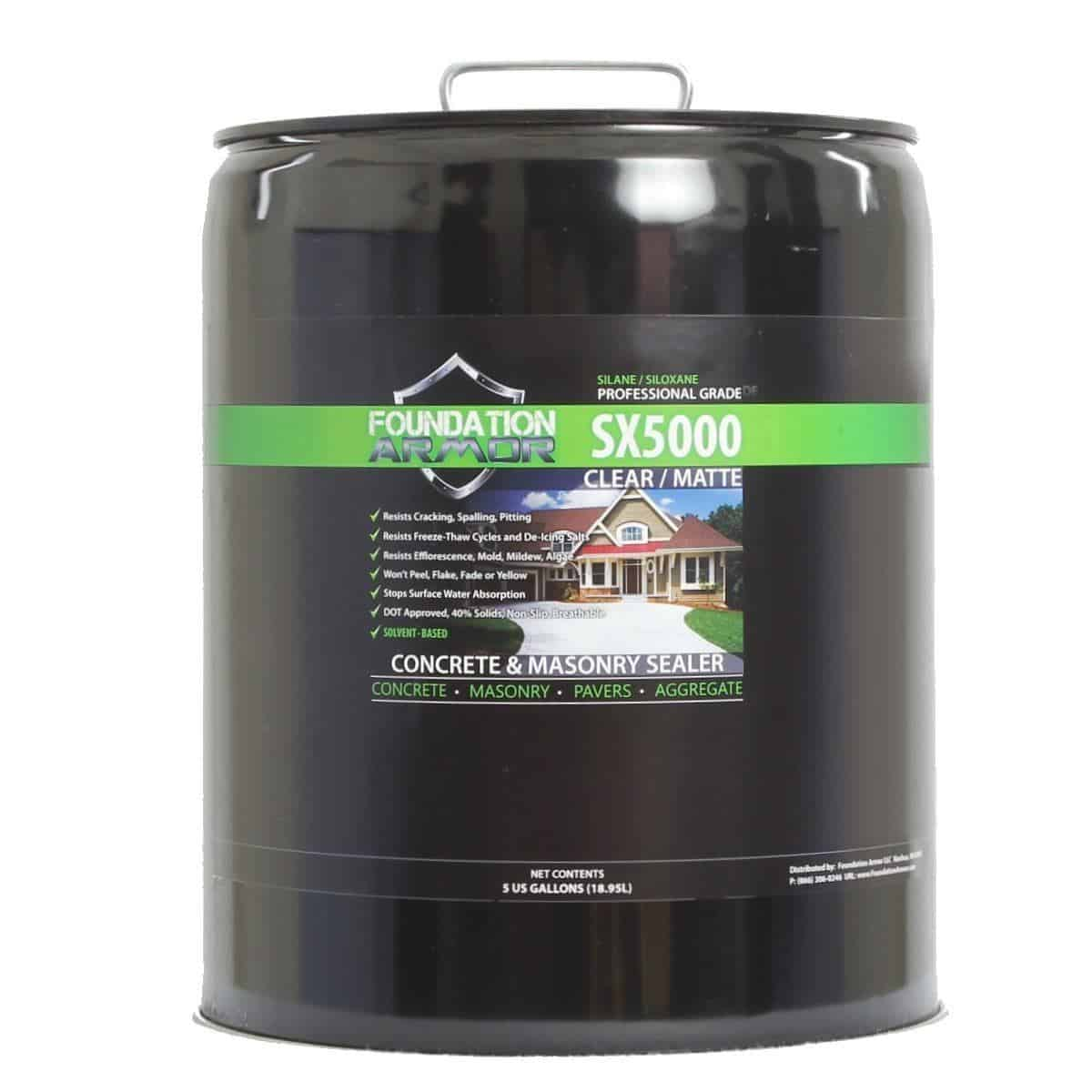 Foundation Armor SX5000 Concrete and Masonry Sealer
