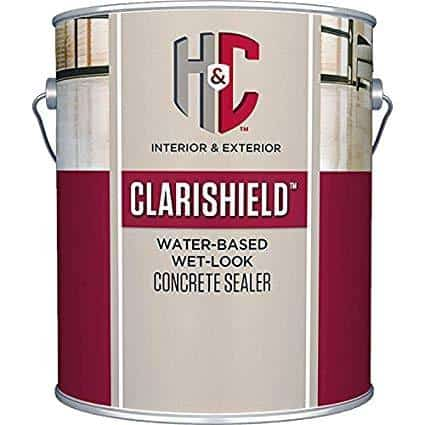 H&C Clarishield Water-Based Wet Look Concrete Sealer
