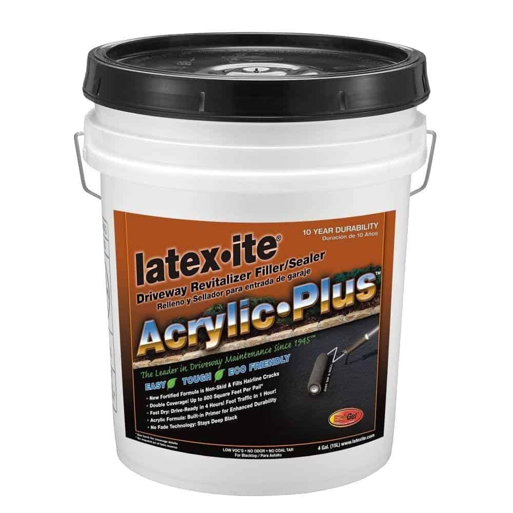 Latex ite Acrylic Plus Driveway Revitalizer Filler Sealer