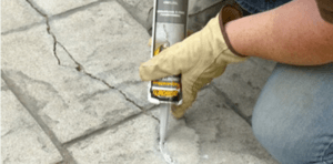 Quikrete Concrete Crack Seal Application