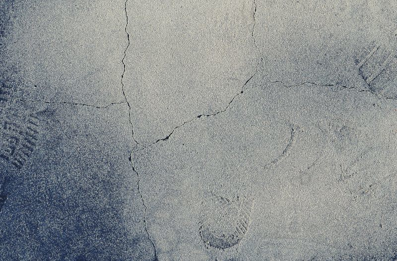 Shoeprint and Cracks