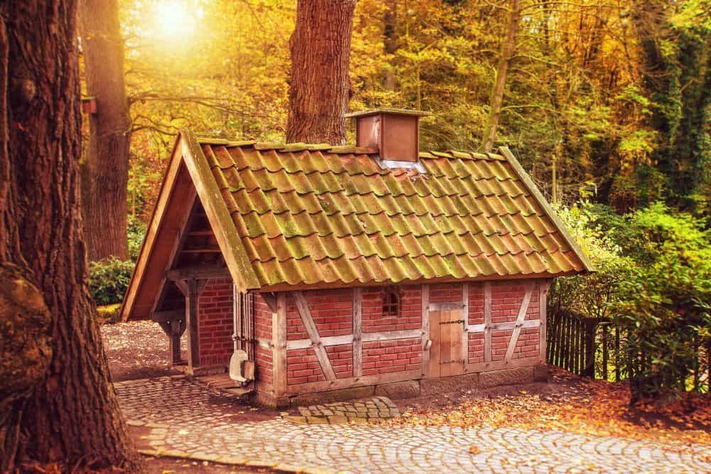 Small Brickhouse with a Chimney