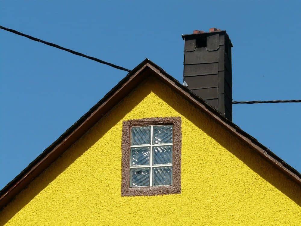 Yellow House with Chimney